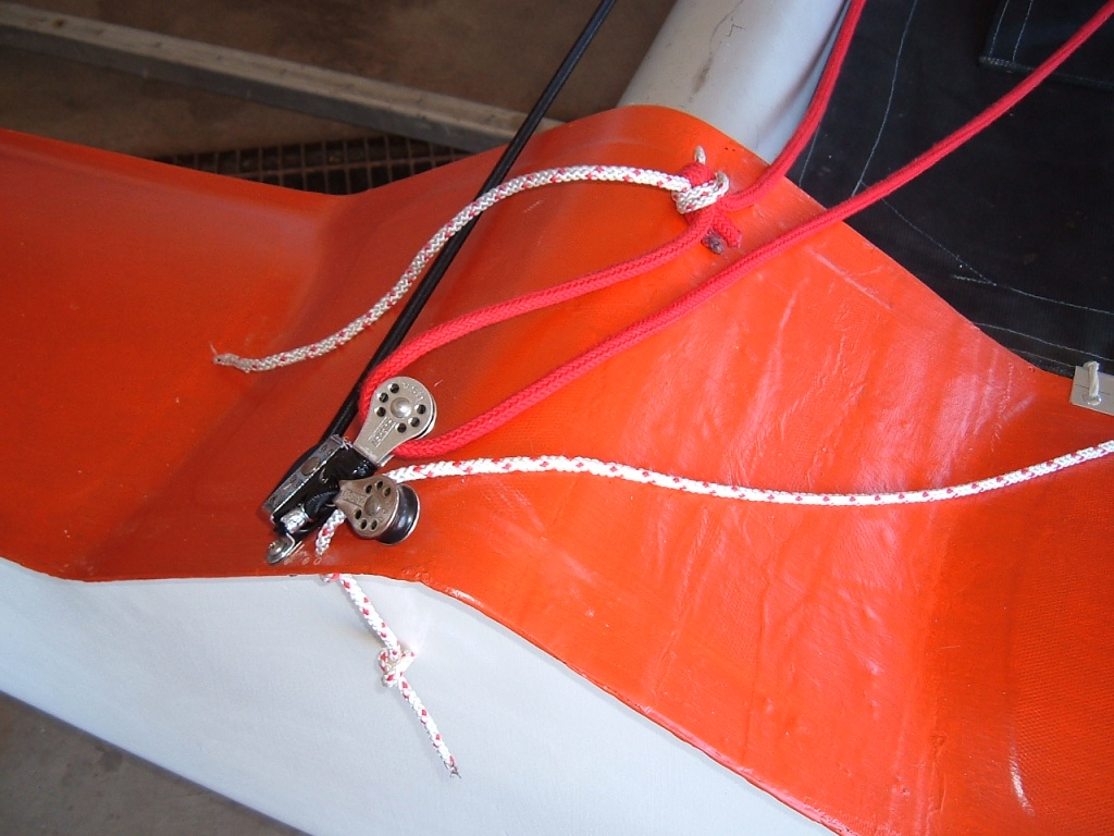 Rope fairlead for jib sheet