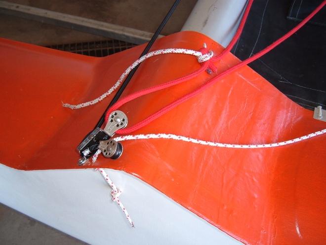 Rope fairlead for jib sheet