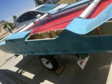 Rear doghouse to daggerboard trunk removed