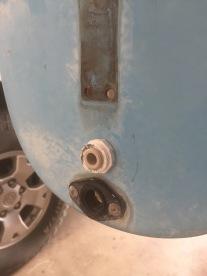 Rudder downhaul tube added