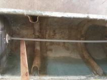 Downhaul tube & rib modification for drainage