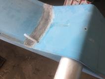 Deck exit for rudder downhaul tube